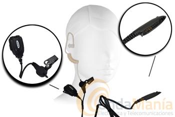 TELECOM JD-MAT-M320 - El micrófono auricular para Motorola GP-320 y GP-340 Telecom JD-MAT-M320 es un robusto pinganillo con un auricular acústico ergonómico y transparente.