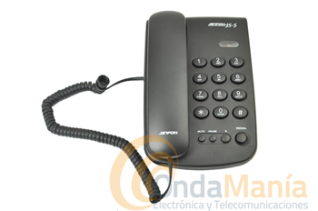 TELEFONO JETFON TS5 - Teléfono de sobremesa , con timbre ajustable, rellamada, tecla flash,...