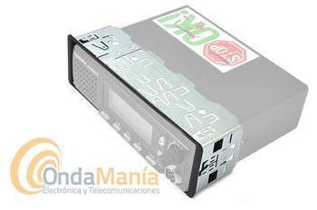 PRESIDENT JOHNSON II ASC EMISORA DE 27 MHZ BANDA CIUDADANA + SOPORTE DIM - Emisora de 27 Mhz, con 40 canales con soporte DIM para instalación eh huecos tipo auto-radio,AM/FM,  ASC Squech automático, altavoz frontal, subida y bajada de canales desde el micrófono, multi-normas Europeas, gran pantalla multi-función, búsqueda de canales (scan),...