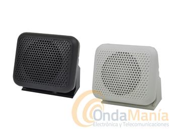 ALTAVOZ SUPLETORIO 024 BLANCO Y 024 NEGRO - Altavoz supletorio con soporte y de color blanco o negro con reducidas dimensiones.