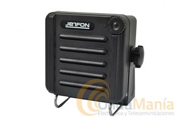 ALTAVOZ MARINO JETFON JR-SB-1B NEGRO - El altavoz supletorio exterior Jetfon JR-SB-1B negro incluye un conmutador de volumen y esta preparado para el uso en exterior aguantando el agua (norma IP-54).