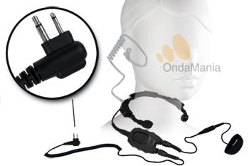 PC-LG03 LARINGOFONO PROFESIONAL DOBLE CON AURICULAR ACUSTICO Y DOBLE PTT - PC-LG03 Laringófono doble con auricular acústico transparente de silicona, el laringófono incluye dos PTT y es para walki-talkys Motorola GP-300, XTNi,...