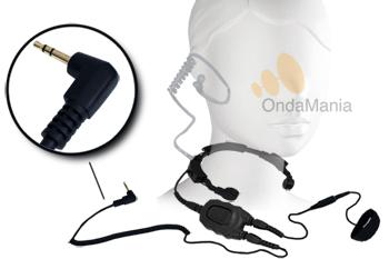 PC-LG08-MTA LARINGOFONO PROFESIONAL DOBLE CON AURICULAR ACUSTICO Y DOBLE PTT PARA MOTOROLA PMR - PC-LG11 Laringófono doble con auricular acústico transparente de silicona, el laringófono incluye dos PTT y es para walki-talkys Motorola PMR tipo T-5422, T5622, T5, T7,...