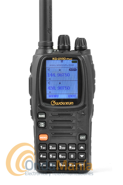 WOUXUN KG-UV9D PLUS WALKIE DOBLE BANDA VHF/UHF, FULL DUPLEX+PINGANILLO.