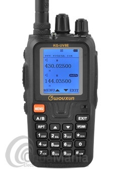 WOUXUN KG-UV8E V2 WALKY DE DOBLE BANDA UHF/VHF CON BATERIA DE 2600 MAH+RADIO FM+PORTE GRATIS - El Wouxun KG-UV8E V2 con batería de alta capacidad 2600 mAh es un transceptor portátil doble banda (UHF y VHF), con gran display LCD de alta calidad. Tecla RPT para activar la función repetidor, tecla canal de emergencia. Usa subtonos CTSS / DCS. También dispone de DTMF (marcación por teclado) y escáner de subtonos. Programable mediante PC. 999 memorias alfanuméricas. Incorpora receptor FM 88-108Mhz.