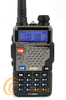 INTEK KT-980HP PORTATIL BI-BANDA CON 8W EN VHF Y 7W EN UHF+PINGANILLO DE REGALO - Transceptor portátil doble banda con 8W en VHF y 7W en UHF y radio FM comercial,dispone de 128 canales de memoria, incluye batería de Ion-Litio de alta capacidad con 1800 mAh, dispone de tonos DCS y CTCSS, función VOX, alarma, manual en castellano...