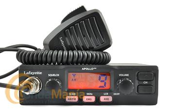 LAFAYETTE APOLLO PRO BLACK EMISORA CB BANDA CIUDADANA  - Emisora de reducido con tamaño con grandes funciones como escaner, AM/FM, acceso directo a canal 9 o 19, LCD retroiluminado, multi estándar Europeo,...