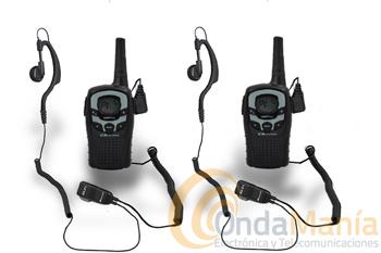 MIDLAND M99 PLUS - Pareja de PMR-446 de uso libre con 99 canales, VOX, CTCSS, fundas, baterías, cargadores, pinganillos,...