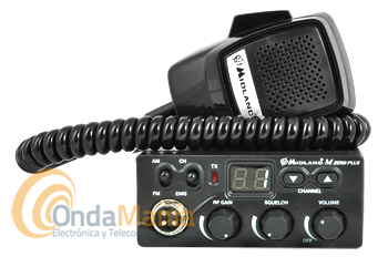 MIDLAND ALAN M ZERO PLUS EMISORA CB 27 MHZ CON AM Y FM - OUTLET -