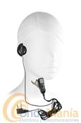 MIDLAND MA-24L - Midland MA-24L micrófono auricular regulable con conector de 2 pins en 90º ideal para el Midland G7, G8, G9, G5,... El micrófono auricular tiene un conmutador para poder utilizar el Midland G-7, G8, G9,... con VOX o PTT. Tambien en compatible con el Wintec LP-4502.