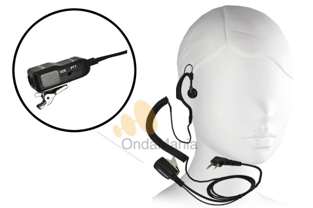 MIDLAND MA-21L - Midland MA-21L micrófono auricular ergonómico con cable rizado ideal para el Midland G7, G8, G9, G5,... El micrófono auricular tiene un conmutador para poder utilizar el Midland G-7 con VOX o PTT. Tambien en compatible con el Wintec LP-4502.