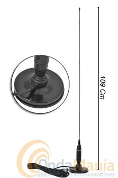 ANTENA MAGNETICA INTEK MAG-1349 - Mini antena magnética para 27 Mhz. con 95 cm de longitud.