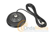 BASE MAGNETICA SIRIO MAG-145PL - La base magnética Sirio MAG-145PL tiene un diámetro de 160 mm. y es para antenas con conector PL.