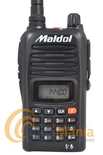 MADOL V6-HAM WALKIE DE VHF CON RADIO FM - Portatil de VHF con radio FM, batería de litio, cargador de sobremesa, 5 W de potencia, 199 canales de memoria,...