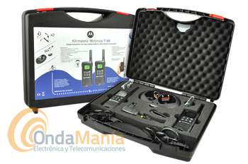 MALETA MOTOROLA TLRK T60 PAREJA DE PMR DE USO LIBRE + PINGANILLOS DE REGALO
