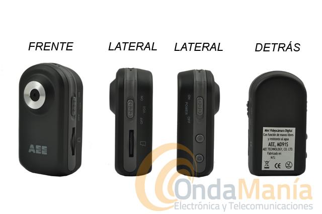 MD91S MINI VIDEO CAMARA DIGITAL SUMERGIBLE AEE - Mini videocámara digital con función manos libres, resistente al agua y sumergible hasta 20 metros de profundidad, incluye tarjeta micro SD de 2 GB. SIN GASTOS DE ENVIO!!!
