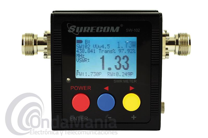 SURECOM SW-102 MEDIDOR DIGITAL DE ESTACIONARIAS Y POTENCIA PARA VHF Y UHF DESDE 125 A 525 MHZ