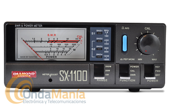 DIAMOND SX-1100 MEDIDOR DE ESTACIONARIAS (ORIGINAL JAPON) DE 1,8 HASTA 1300 MHZ.