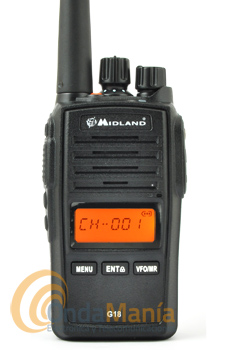 MIDLAND G18 PMR PROFESIONAL DE USO LIBRE CON RECEPTOR DE RADIO FM+PINGANILLO DE REGALO