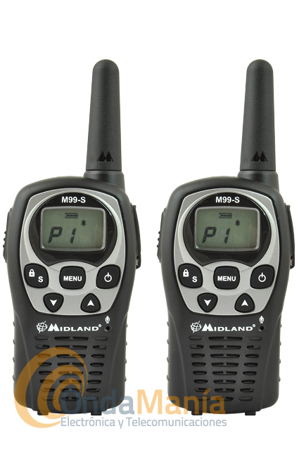 PAREJA DE WALKI TALKIE PMR 446 DE USO LIBRE MIDLAND M99S PLUS OUTLET