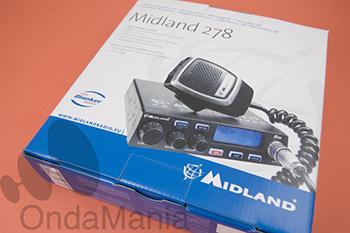 TRANSCEPTOR CB MIDLAND 278 - Transceptor de CB Midland 278 con AM y FM, display retroiluminado azul, micrófono con teclas UP/DOWN para subir y bajar canales,....