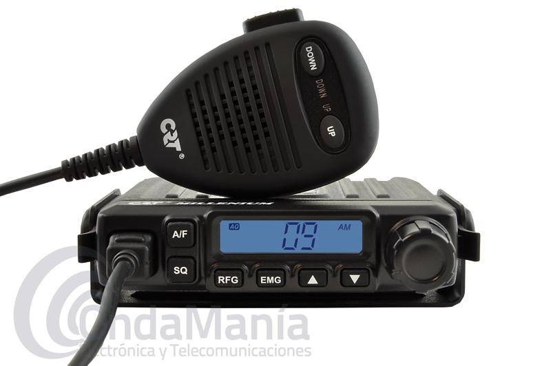 CRT MILLENIUM TRANSCEPTOR MOVIL DE REDUCIDO TAMAÑO DE BANDA CIUDADANA 27 MHZ FM/AM MULTINORMA - Emisora de 27 Mhz CB banda ciudadana multinorma con AM y FM, dispone de un display LCD multifuncion con smeter, escaner, subida y bajada de canales desde el micrófono, micrófono con conector RJ, squelch manual y automático,...
