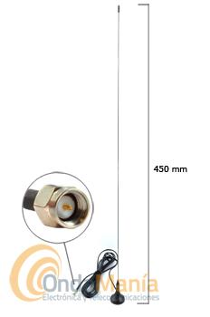 MINI WALK VHF SMA - Antena de ¼ de onda mini magnética para la banda de VHF con conector SMA.