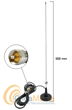 DIAMOND MR-77PL ANTENA MAGNETICA DOBLE BANDA