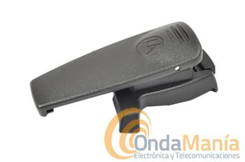 CLIP DE CINTURON PARA MOTOROLA MTH-800 - Clip de cinturón para Motorola MTH-800 compuesto por soporte al walki y dos clips de cinturón a elegir: corto y largo