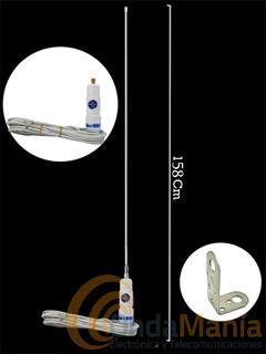 SIRTEL NAVY - Antena náutica de sujeción en mástil (o palo) para banda VHF (156-166 Mhz)