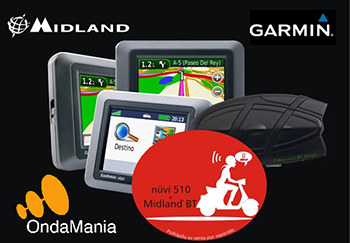 PACK INTERCOMUNICADOR MOTO MIDLAND BTGE + NÜVI 510