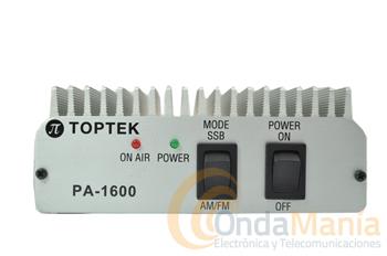 AMPLIFICADOR LINEAL PA-1600 - Amplificador lineal de 25 a 30 Mhz. AM/FM/SSB con 100 W de salida