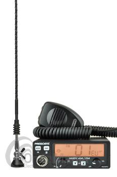 PACK PRESIDENT ANDY AM/FM ASC 12/24V EMISORA DE CB 27 MHZ + ANTENA PRESIDENT MINILOG - Pack compuesto por antena President MINILOG + President ANDY emisora de 27 Mhz banda ciudadana,dispone de ASC, podemos alimentarla a 12 y 24 VCC, gran LCD con tres colores, subida/bajada desde el micrófono, roger beep, canal de emergencia programable, tiempo de TX limitado TOT, beep teclas, roger beep, multi norma Europeas,....