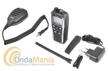 ICOM IC-M25 EURO TRANSCEPTOR  VHF MARINA BLANCO PERLA + MICROFONO ALTAVOZ ICOM HM-213 IPX7 - Pack compuesto por un micrófono altavoz Icom HM-213 + walki Icom IC-M25 Euro, equipo portátil ligero, esbelto, de altas prestaciones, con cargador tipo USB micro-B, unaautonomía de hasta 11 horas, gran LCD, flota al caer al agua y dispone de un led que destella, resistente al agua IPX7,....