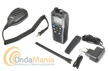 ICOM IC-M25 EURO TRANSCEPTOR  VHF MARINA GRIS METALIZADO + MICROFONO ALTAVOZ ICOM HM-213 IPX7