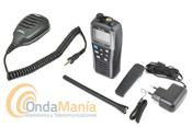ICOM IC-M25 EURO TRANSCEPTOR  VHF MARINA GRIS METALIZADO + MICROFONO ALTAVOZ ICOM HM-213 IPX7 - Pack compuesto por un micrófono altavoz Icom HM-213 + walki Icom IC-M25 Euro, equipo portátil ligero, esbelto, de altas prestaciones, con cargador tipo USB micro-B, unaautonomía de hasta 11 horas, gran LCD, flota al caer al agua y dispone de un led que destella, resistente al agua IPX7,....