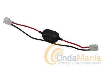 KENWOOD PG-3B - Cable de alimentación con filtro antiparasitario para equipos móviles