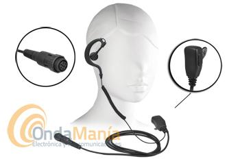 RC-1309 MICROFONO AURICULAR PARA EL YAESU VX-8 - Micrófono auricular con soporte ergonómicode silicona con cable rizadode alta calidad compatible con el Yaesu VX-8