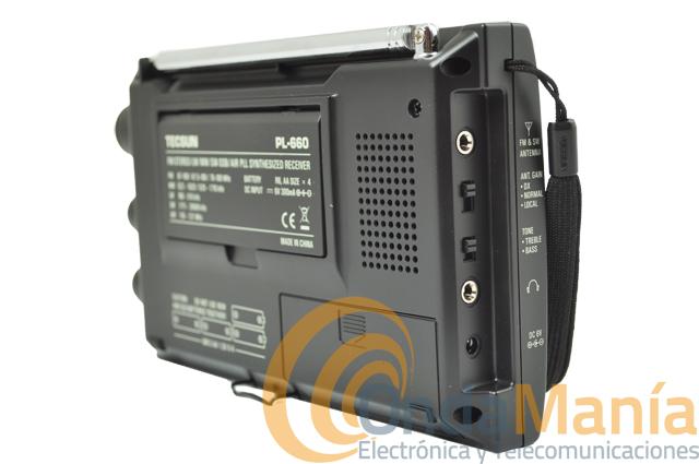 TECSUN PL-660 RADIO MULTIBANDA - Receptor de onda corta AM, FM, LW, SW, SSB y Banda Aerea (188 - 137 Mhz), con alta selectividad y sensibilidad con un manejo fácil y alta calidad de sonido.