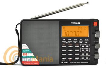 TECSUN PL-880 RECEPTOR MULTIBANDA TODO MODO CON EXCELENTE RENDIMIENTO COLOR NEGRO - Receptor de radio multibanda con AM, FM estéreo, SW, LW y SSB con excelente rendimiento, 3500 memorias, incluye batería recargable de litio, toma de antena exterior, display LCD retroiluminado, manual de instrucciones en castellano,...