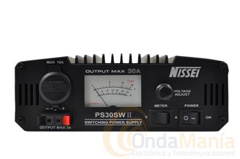 FUENTE DE ALIMENTACION JETFON PS-30 SW II / PC-30AL  - Fuente de alimentación de 30 Amp. conmutada y  regulable con instrumento analógico y toma de encendedor frontal.
