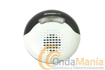 TIMBRE TELEFONICO SUPLETORIO JETFON R-123 - Timbre telefónico supletorio adaptable a cualquier teléfono con cable, aparte del sonido incluye un led indicador de llamada. Ideal para personas con deficiencias auditivas.