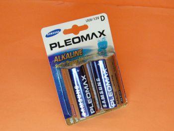 PILA SAMSUNG R-20 D BLISTER CON DOS PILAS - Pila Samsung alcalina R-20 D blister con dos pilas