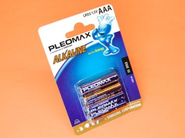 R-3 (AAA) BLISTER DE 4 PILAS ALCALINAS PLEOMAX SAMSUNG