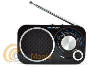BLAUPUNKT BA-208 NEGRA - Radio analógica de viaje FM/MW.