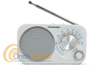 BLAUPUNKT BA-209 BLANCA - Radio analógica de viaje FM/MW.