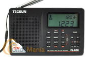 TECSUN PL-606 RECEPTOR FM ESTEREO, SW, MW, LW CON DEMODULACION DIGITAL DSP - Receptor portátil digital multibanda con demodulación digital yconFM Estereo/SW/MW/LW, 550 memorias, termometro, reloj digital, despertador, función sleep,...