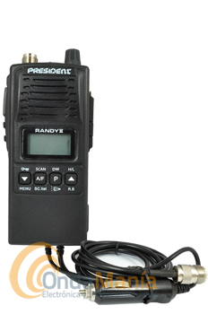 PRESIDENT RANDY II VERSION M (MOVIL) WALKIE DE 27 MHZ CON AM Y FM