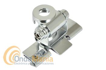 SOPORTE DE ANTENA TELECOM RB-400 CROMADO - Soporte articulado para maletero, portón, capot,... Telecom RB-400 cromado.