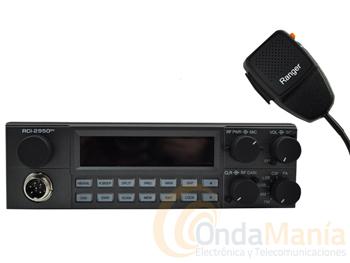 RANGER RCI-2950DX - Transceptor móvil de 10 metros (28 a 30 Mhz) con AM, FM, LSB, USB y CW, con un gran display retroiluminado, 25 W de potencia, escaner, mediddor SWR,...
